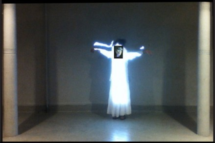"""I'm Growing Up"" Media-Morph Performance at Grace Exhibition Space, Bklyn, NY, April 16, 2013 Documentation Footage"